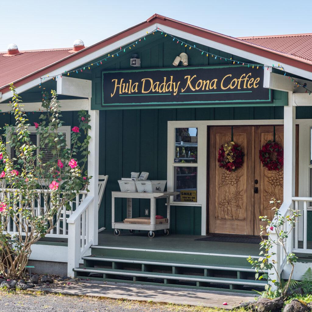 Hula Daddy Kona Coffee.