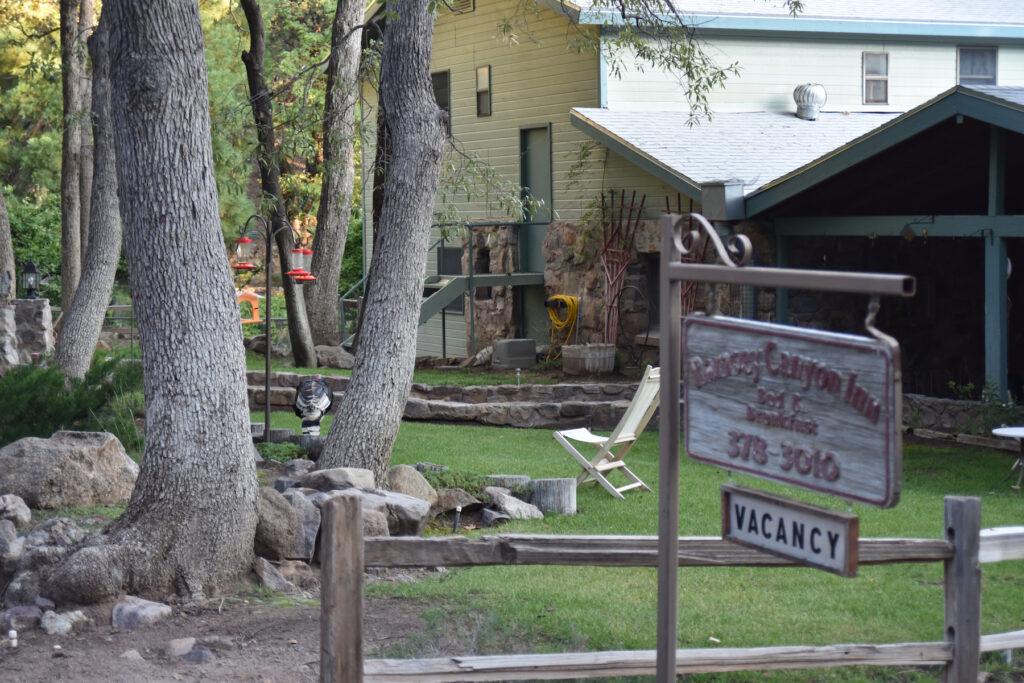 Hummingbird feeders at Ramsey Canyon Inn.