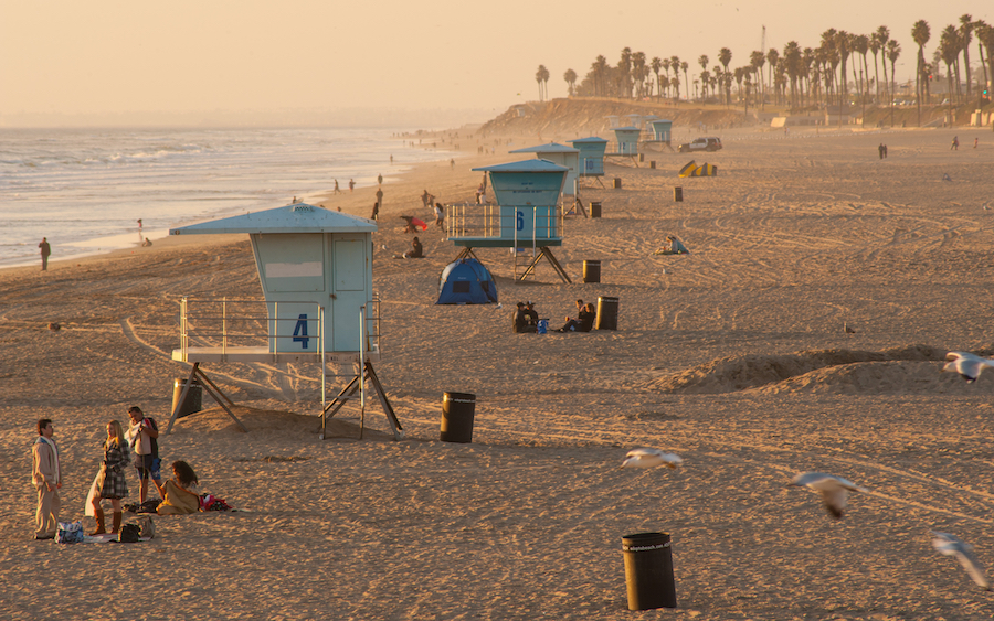 Huntington City Beach in California.