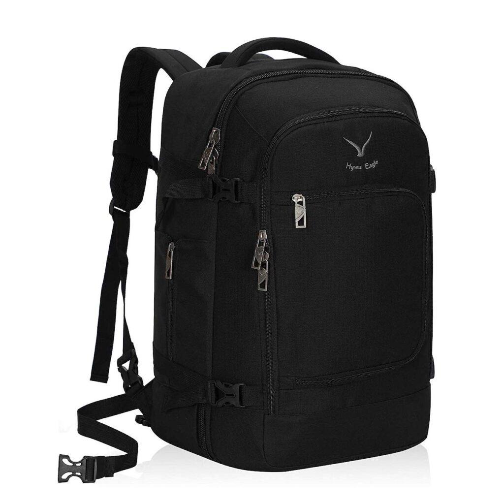 Hynes Eagle Travel Backpack in black.