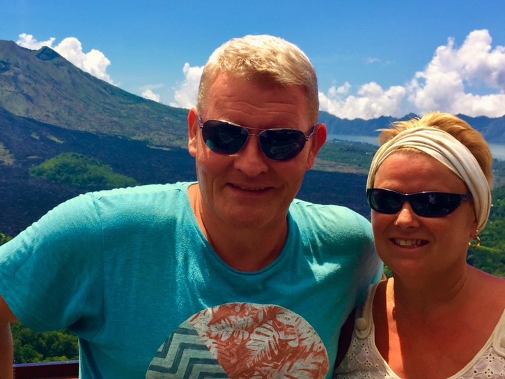 Ian and Chris Breslin at Mount Batur Kintamani