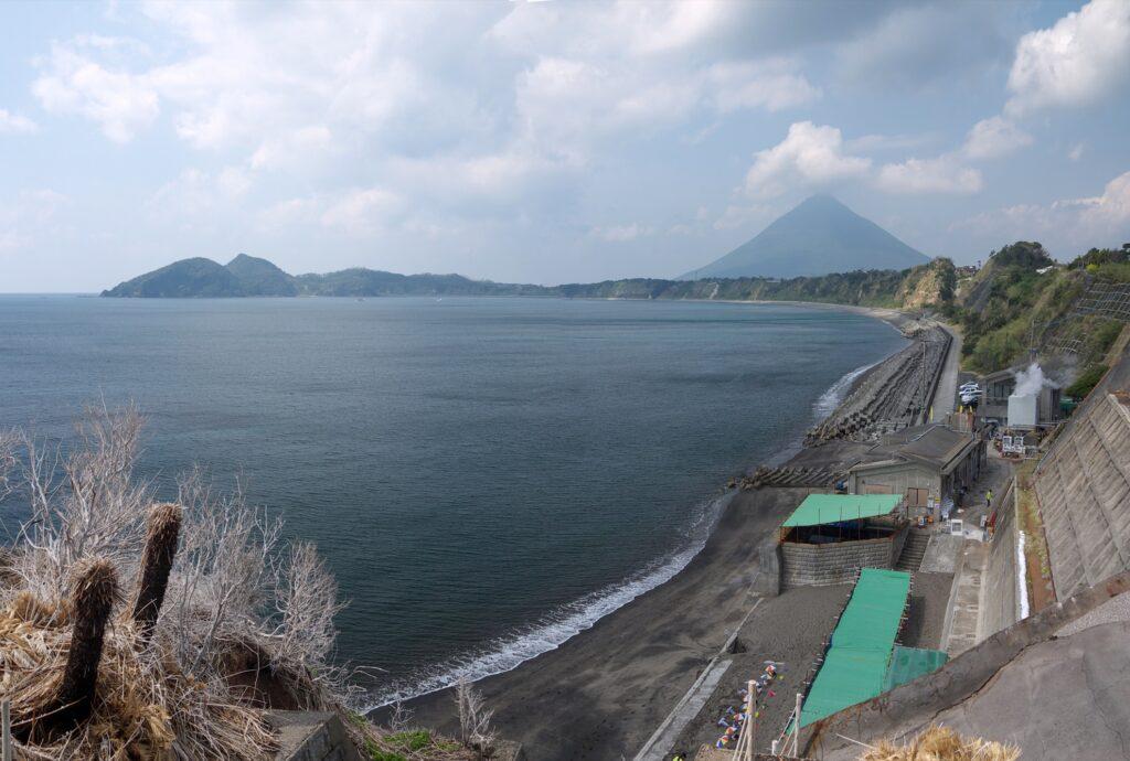 Ibusuki Beach in Japan.