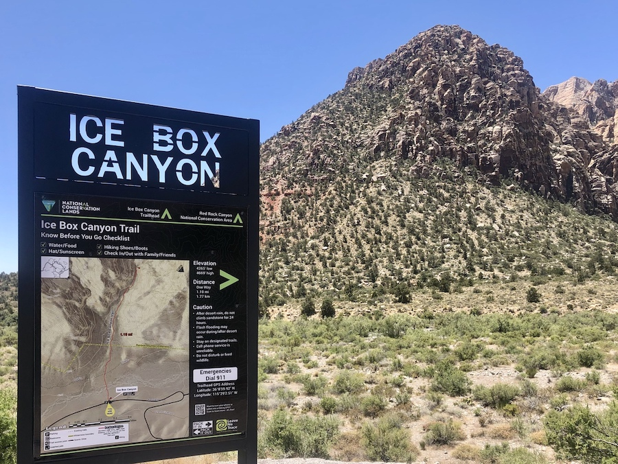 Ice Box Canyon in Red Rock Canyon.
