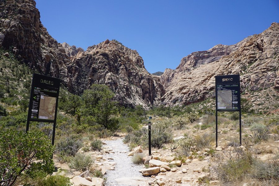 Ice Box Canyon Trail in Red Rock Canyon National Conservation Area.