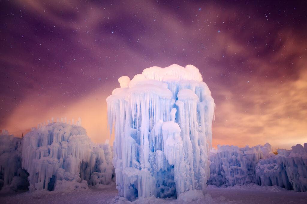 Ice Castles in Midway, Utah.