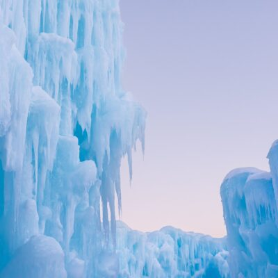 Ice formations at the Ice Caves in New Hampshire.
