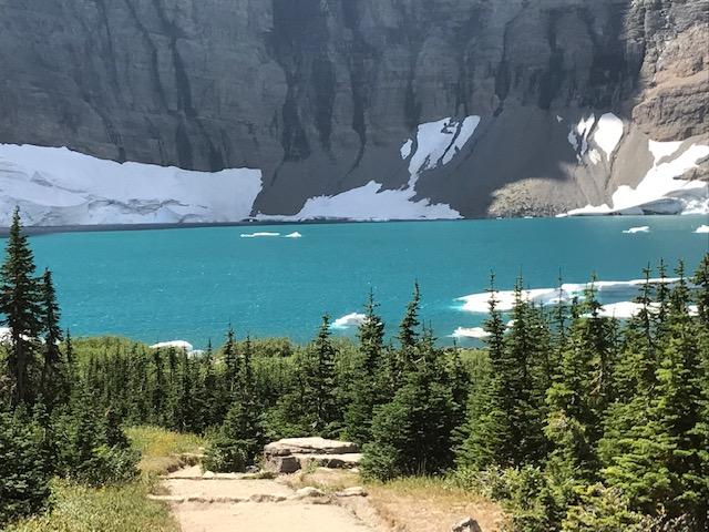 Iceberg Lake in Glacier National Park.