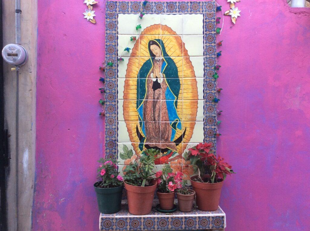 Icon of Guadalupe, Guanajuato, Mexico.