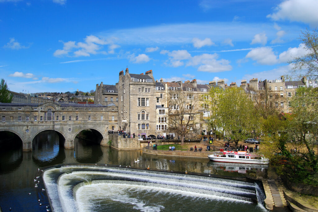 Iconic Pulteney Bridge in Bath.