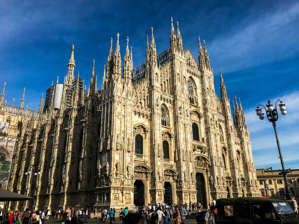 Il Duomo Cathedral in Milan, Italy.