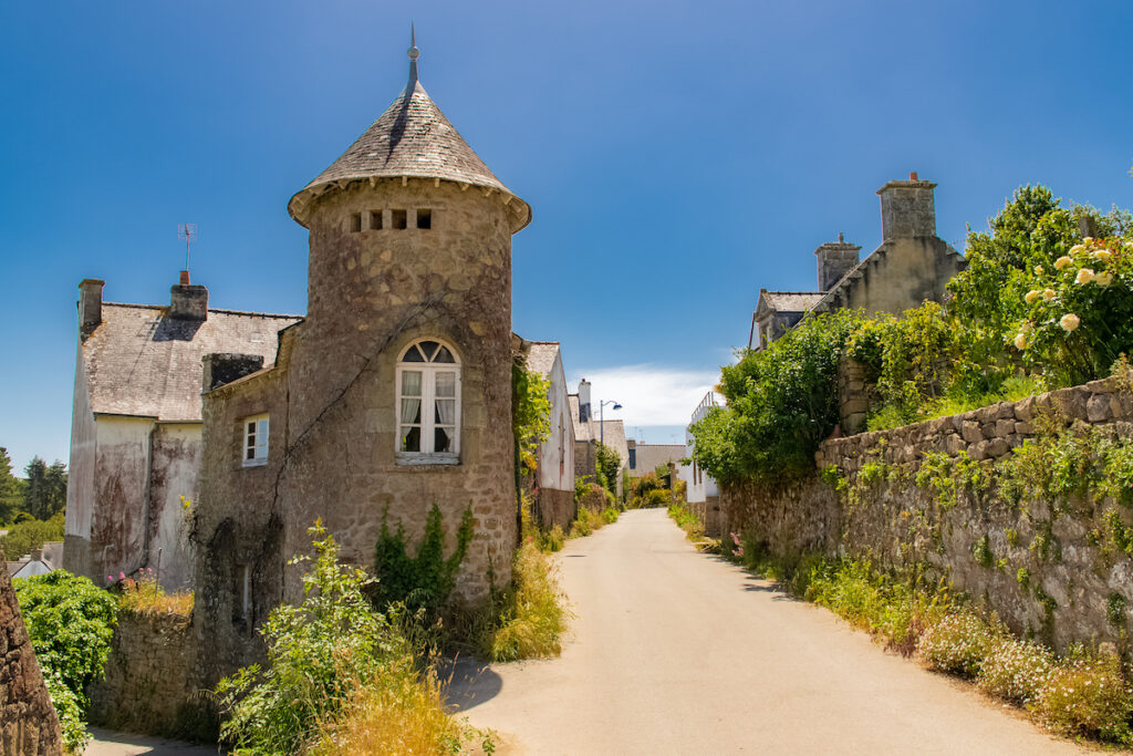 Ile Aux Moines in southern Brittany, France.