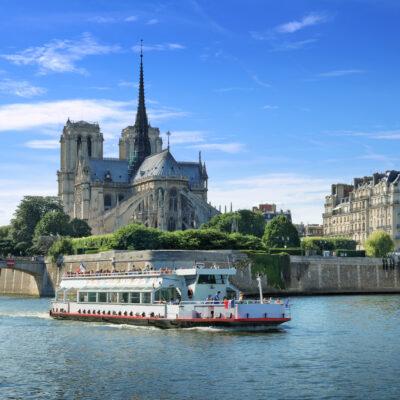 Ile de la Cite in Paris, France.