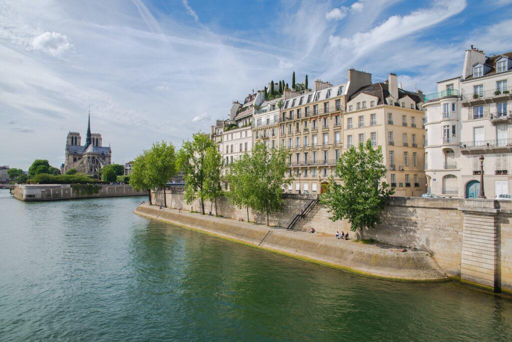 Ile Saint-Louis in Paris, France.