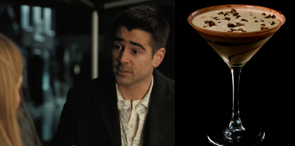 In Bruges and a Chocolate Martini.