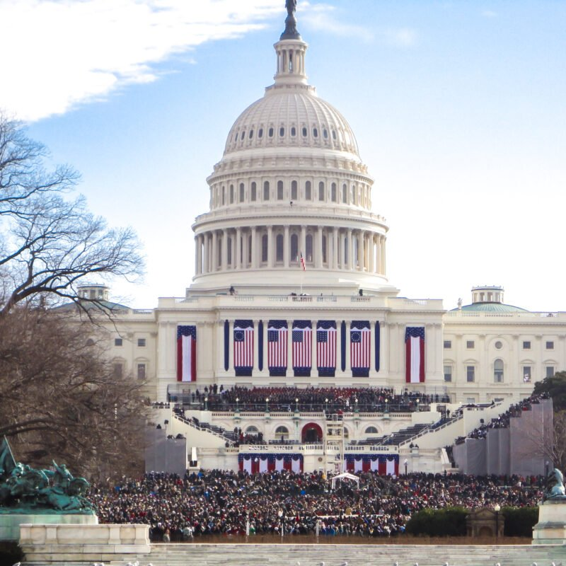 Inauguration Day at the East Front of the Capitol in Washington, D.C.
