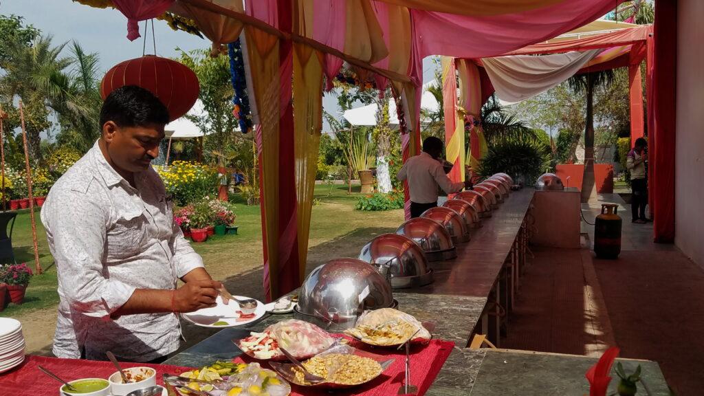 Indian food buffet near Agra