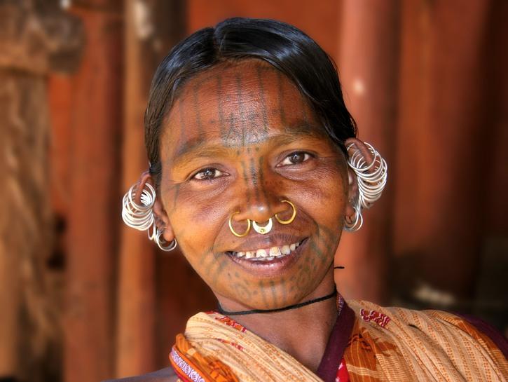 Indian woman piercings