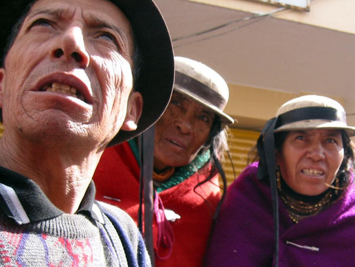 Indigenous peoples in Ecuador.