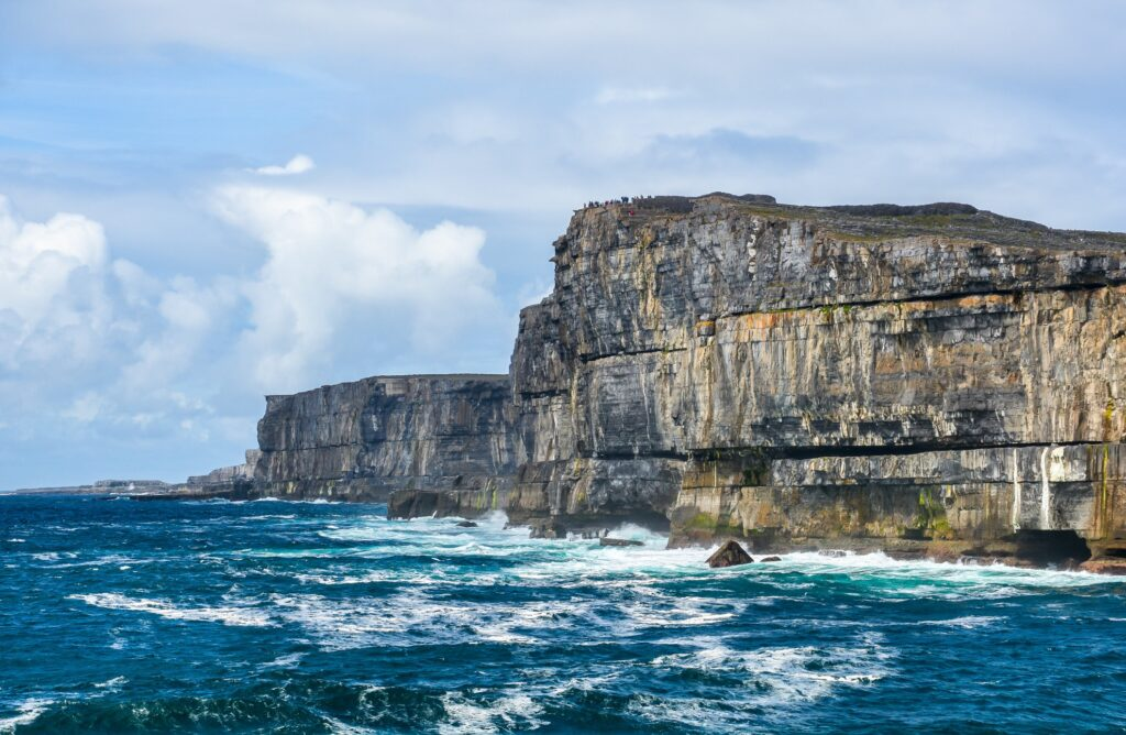 Inishmore Cliffs in the Aran Islands.