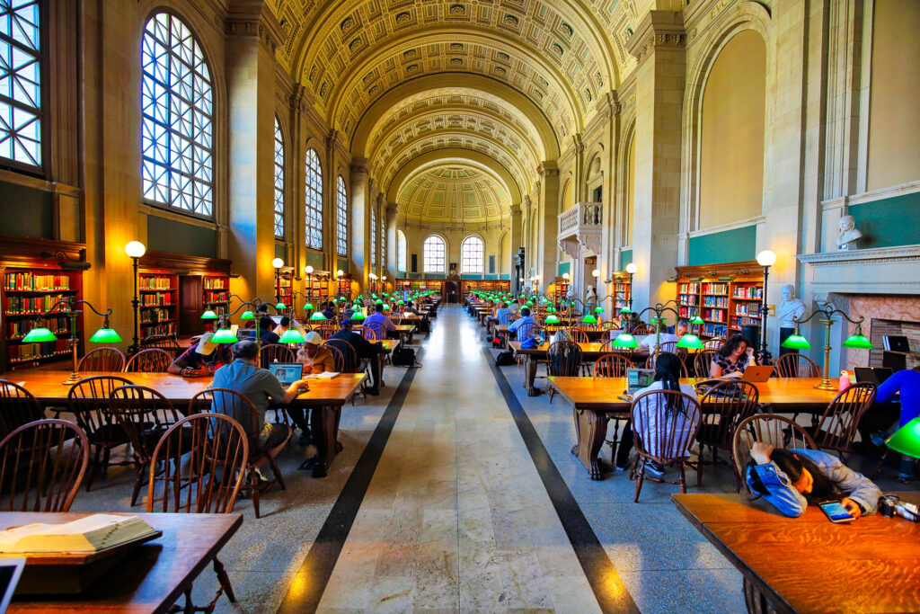 Iniside the Boston Public Library