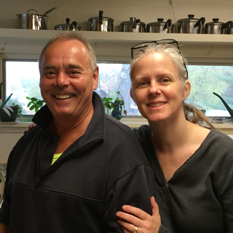 Innkeepers Julie and Mike Wood of the Golden Stage Inn.