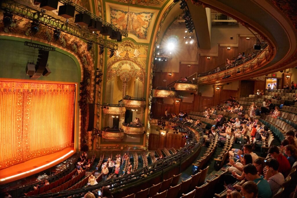 Inside a theater on Broadway.