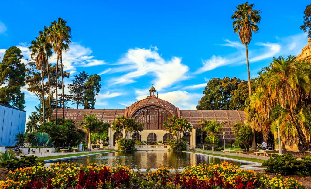 Inside Balboa Park in San Diego, California