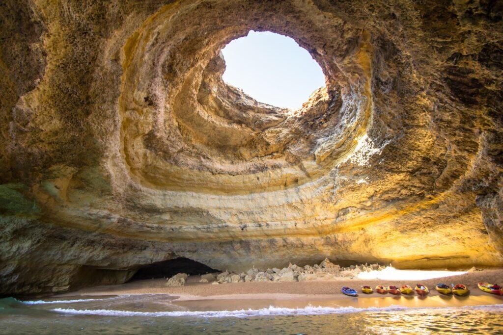 Inside Benagil Cave in the Algarve region.