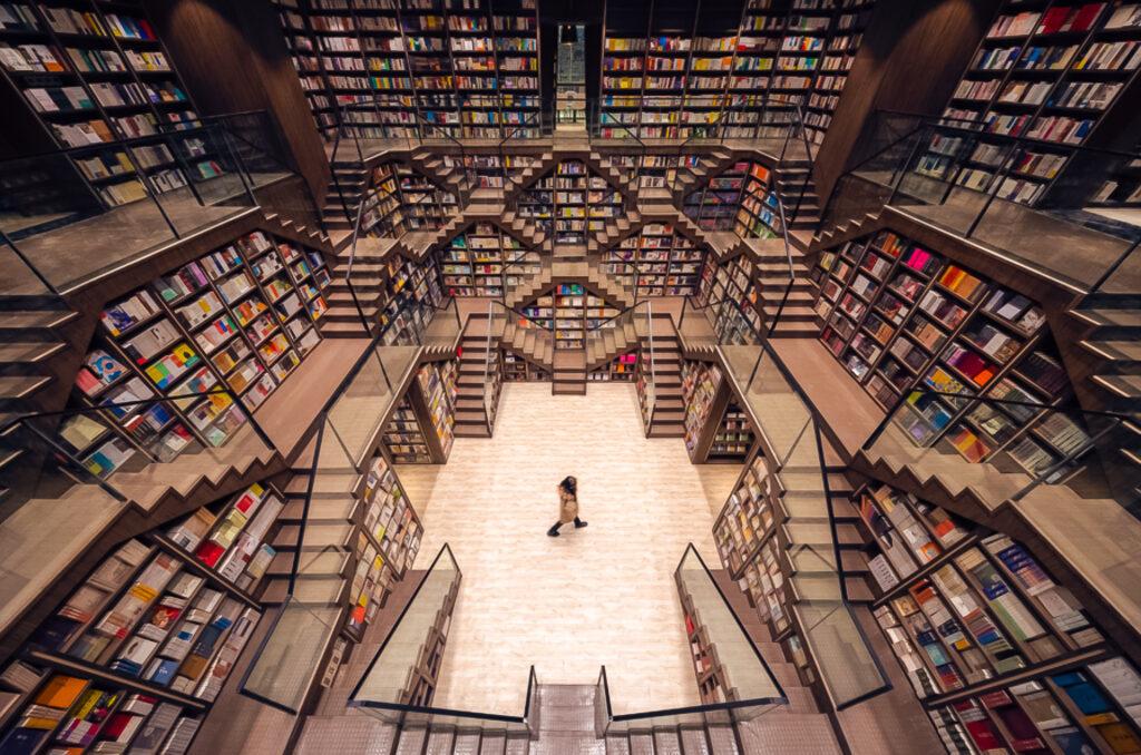 Inside China's Zhongshuge bookstore.