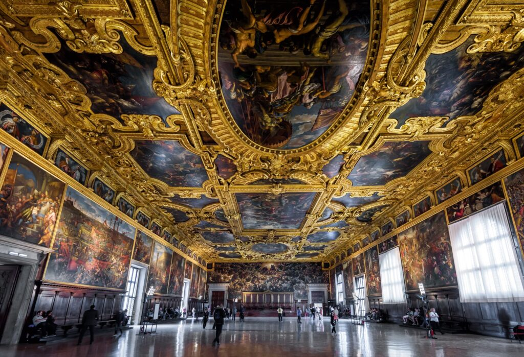Inside Doge's Palace in Venice.