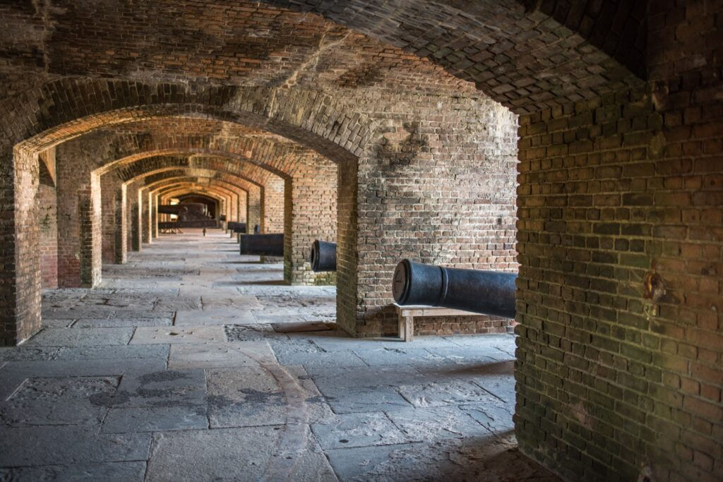 Inside Fort Zachary Taylor Historic State Park.