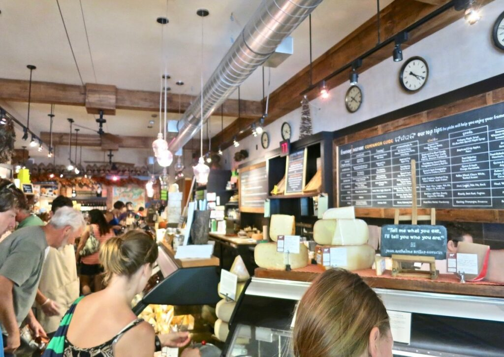 Inside Fromagination, a cheese shop in Madison.
