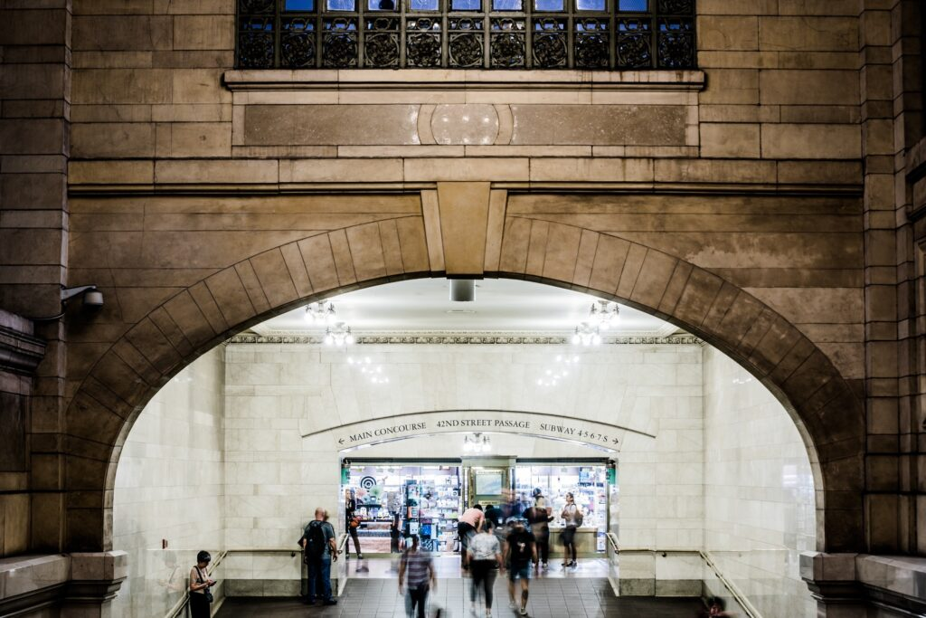 Inside Grand Central Station.