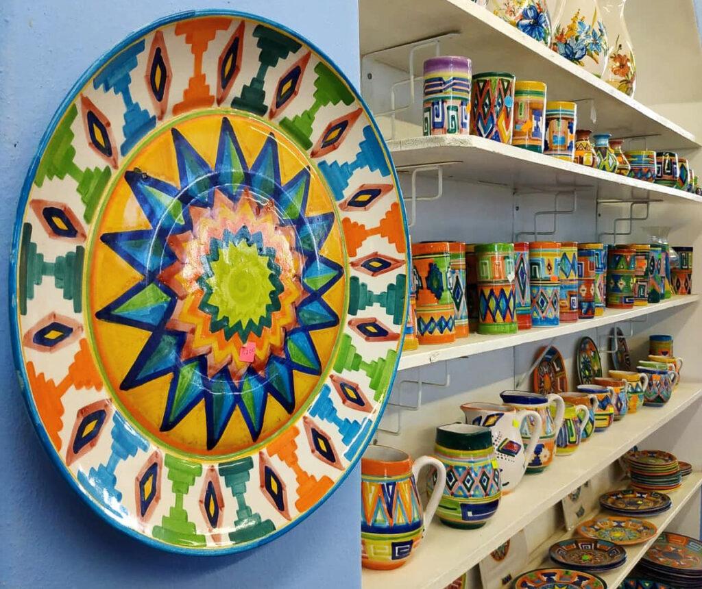 Inside Ibarra's Pottery in La Paz.