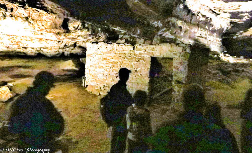 Inside Mammoth Cave in Kentucky.