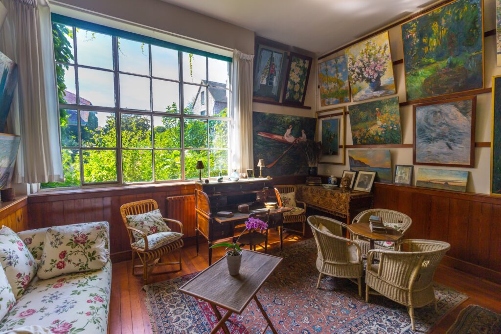 Inside Monet's house in Giverny.
