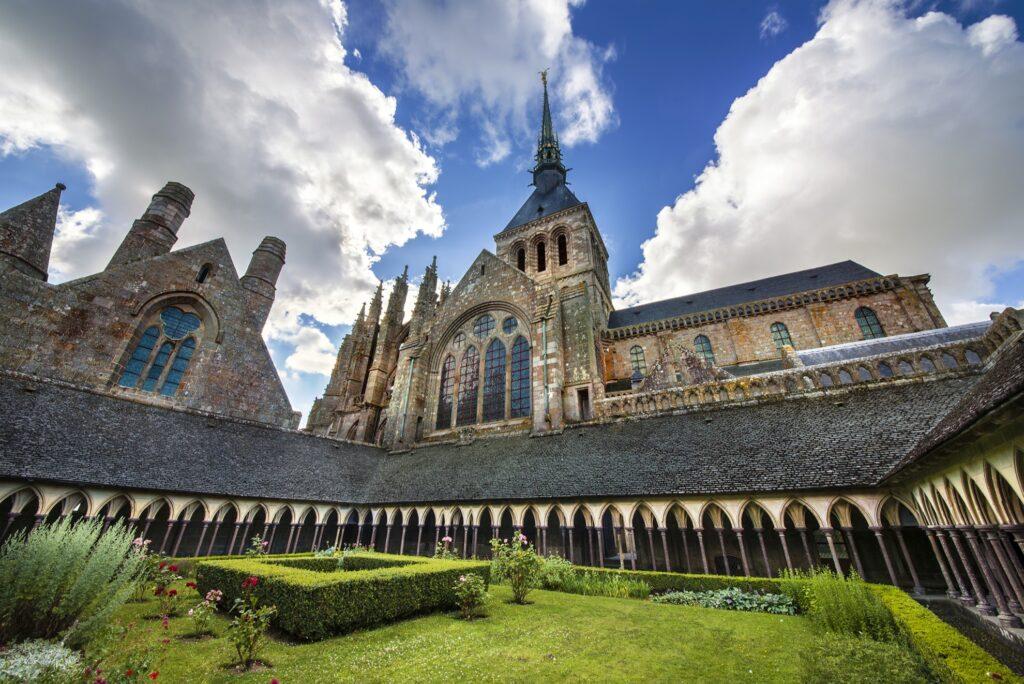 Inside Mont-Saint-Michel.