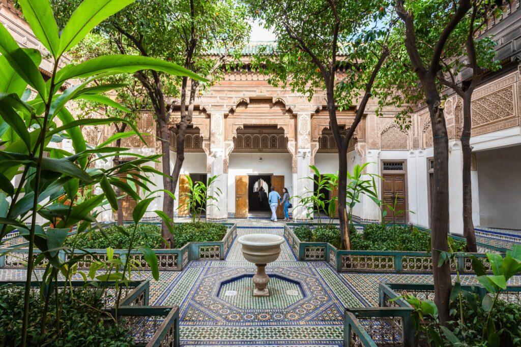 Inside Morocco's Bahia Palace.