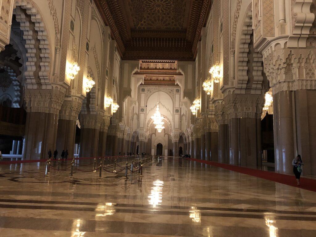 Inside Mosque of Hassan II.