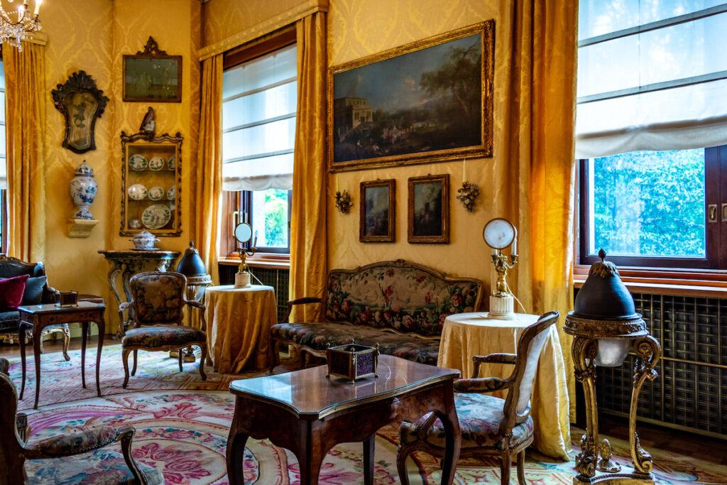 Inside Necchi Campiglio Villa, a private villa in Milan, Italy.