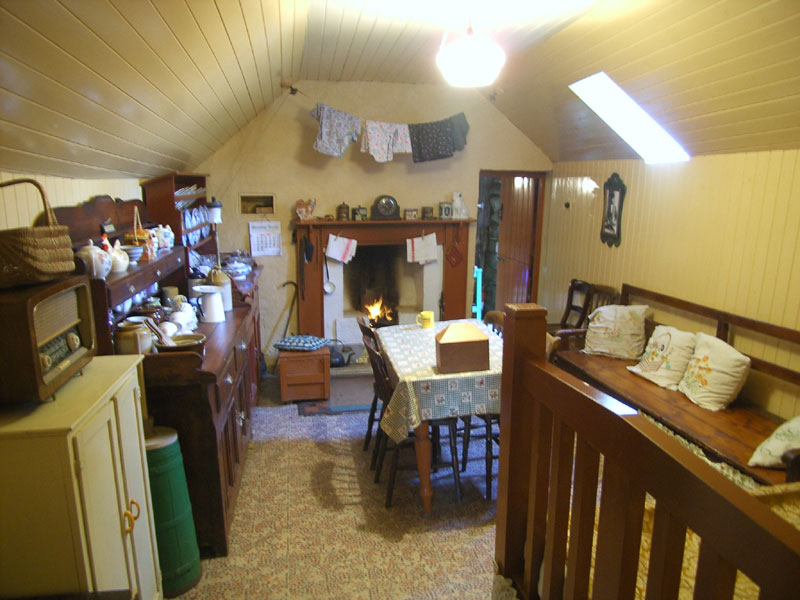 Inside one of the houses in Gearrannan.