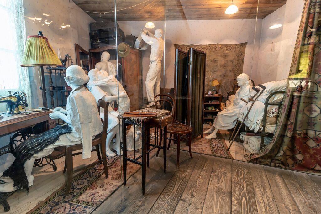 Inside Oskar Schindler's Enamel Factory museum.