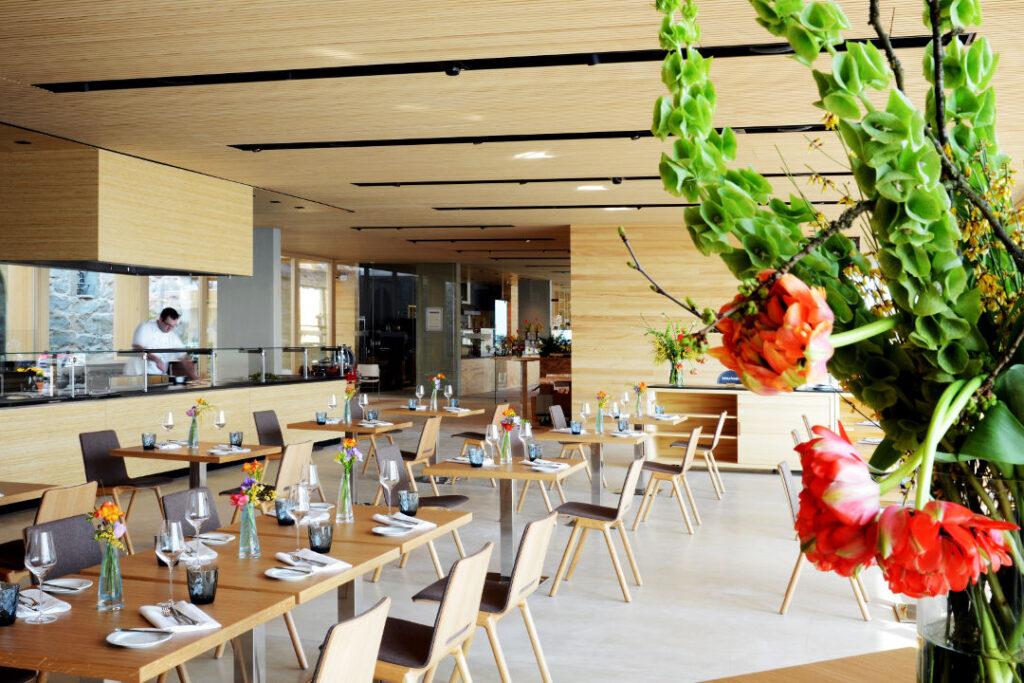 Inside Restaurant Comturey on the Isle of Mainau.