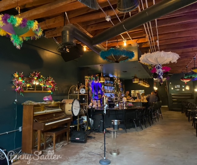 Inside Reveler's Hall in the Bishop Arts District of Dallas, Texas.