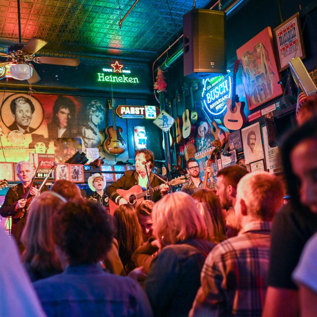 Inside Robert's Western World in Nashville.