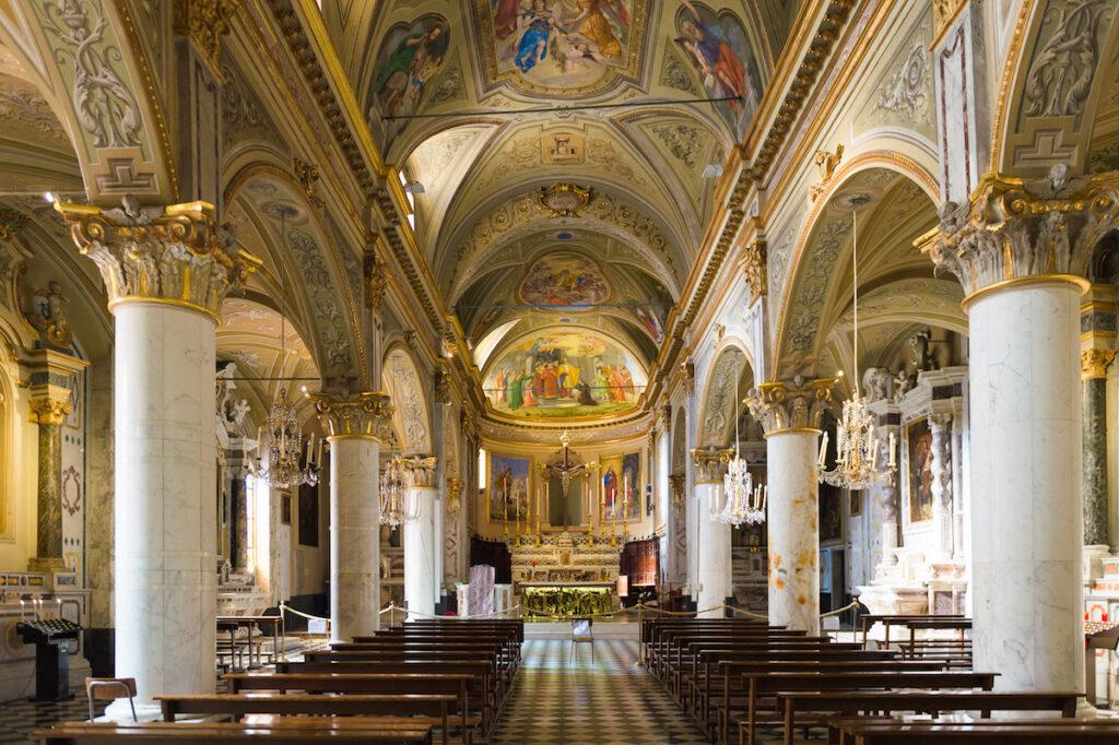 Inside San Martino Church in Portofino, Italy.