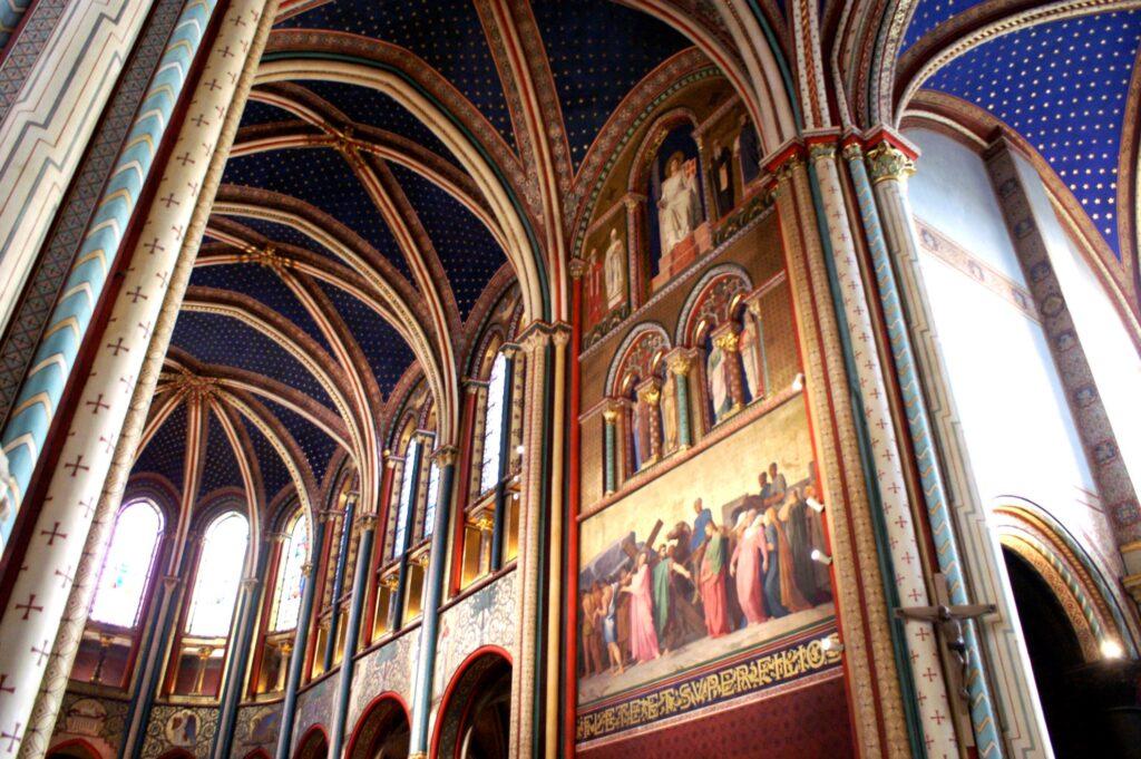 Inside Sant-Germain-des-Prés in Paris.