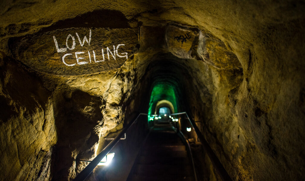 Inside Sunny Jim Cave in San Diego