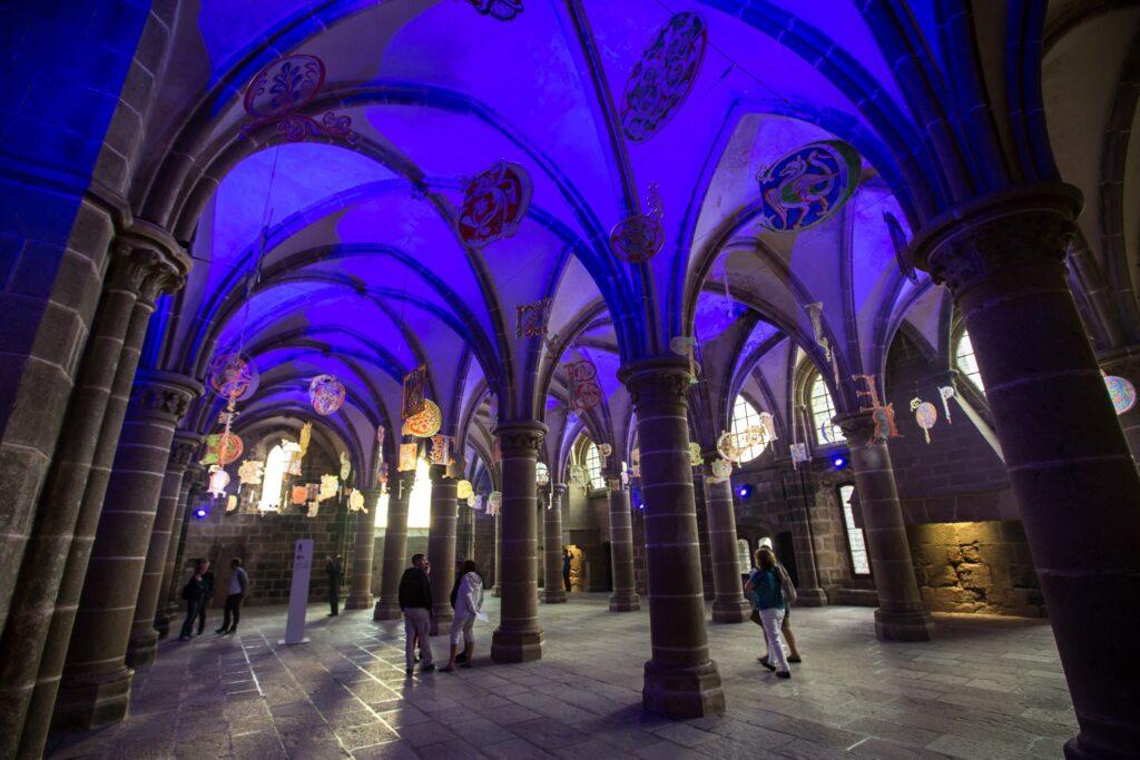 Inside the abbey at Mont-Saint-Michel.