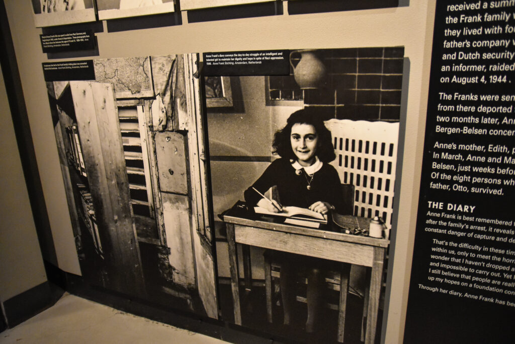 Inside the Anne Frank House.